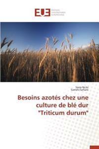 """Besoins azotés chez une culture de blé dur """"Triticum durum"""""""