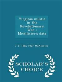 Virginia Militia in the Revolutionary War