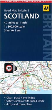AA Road Map Britain Scotland