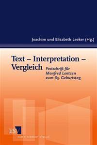 Text - Interpretation - Vergleich