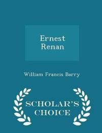 Ernest Renan - Scholar's Choice Edition