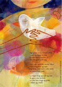 Jeg folder mine hender små. Tekst av Torbjørn Egner. 4-fargers plakat i A4-størrelse med kveldsbønn for barn -  pdf epub