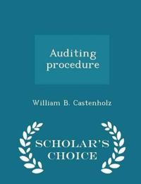 Auditing Procedure - Scholar's Choice Edition