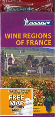 Wine Regions of France  + France National Map 721