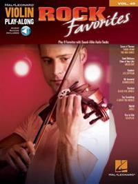 Rock Favorites: Violin Play-Along Volume 49