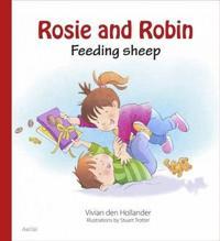 Rosie & Robin Feeding Sheep
