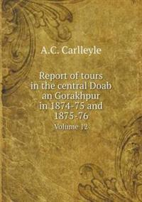 Report of Tours in the Central Doab an Gorakhpur in 1874-75 and 1875-76 Volume 12