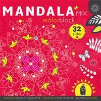 Mandalamix : målarblock (röd)