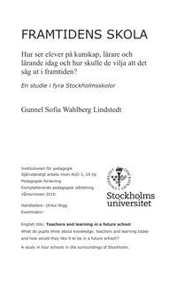 Framtidens skola - Gunnel Sofia Wahlberg Lindstedt pdf epub