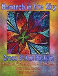 Monarch in the Sky Cross Stitch Pattern