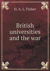 British Universities and the War