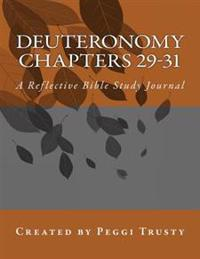 Deuteronomy, Chapters 29-31: A Reflective Bible Study Journal