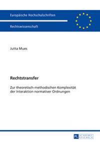 Rechtstransfer: Zur Theoretisch-Methodischen Komplexitaet Der Interaktion Normativer Ordnungen