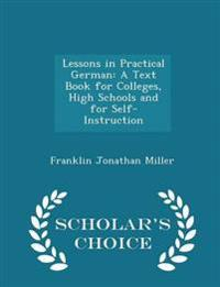 Lessons in Practical German