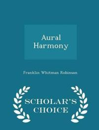Aural Harmony - Scholar's Choice Edition
