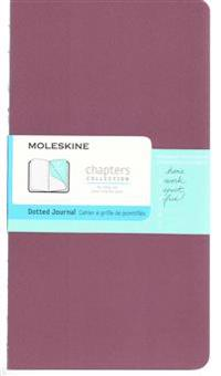 Moleskine Chapters Journal, Slim Large, Dotted, Plum Purple Cover