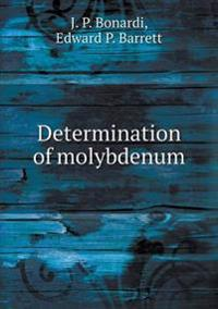 Determination of Molybdenum