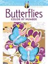 Butterflies Color by Number Coloring