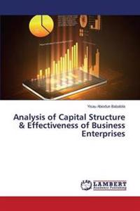 Analysis of Capital Structure & Effectiveness of Business Enterprises
