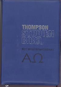 Thompson Studienbibel - ital. Kunstleder, blau, mit Reißverschluss