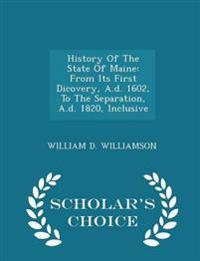 History of the State of Maine