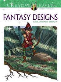Fantasy Designs Adult Coloring Book