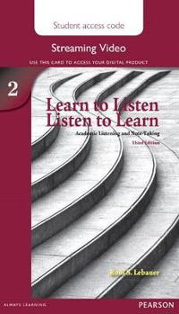 Learn to Listen, Listen to Learn 2 Streaming Video Access Code Card