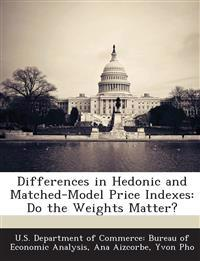 Differences in Hedonic and Matched-Model Price Indexes