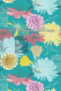 Blue Flowers & Bird Cage Address Book