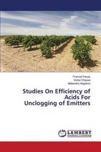 Studies on Efficiency of Acids for Unclogging of Emitters