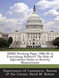Sehsd Working Paper 1996-28