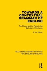 Towards a Contextual Grammar of English