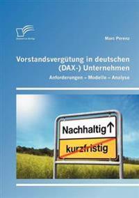 Vorstandsverg Tung in Deutschen (Dax-) Unternehmen