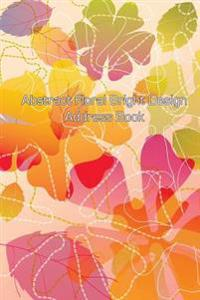 Abstract Floral Bright Design Address Book
