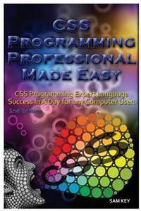 CSS Programming Professional Made Easy: Expert CSS Programming Language Success in a Day for Any Computer User!