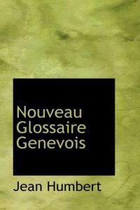 Nouveau Glossaire Genevois