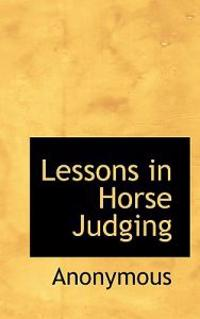 Lessons in Horse Judging