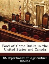 Food of Game Ducks in the United States and Canada