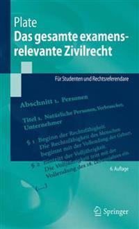 Das Gesamte Examensrelevante Zivilrecht: Für Studenten Und Rechtsreferendare