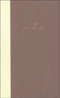 Bargfelder Ausgabe. Werkgruppe I. Romane, Erzählungen, Gedichte, Juvenilia