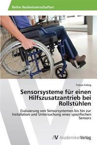 Sensorsysteme Fur Einen Hilfszusatzantrieb Bei Rollstuhlen