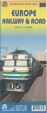 Europe Railway & Road 1 : 3 350 000