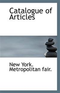 Catalogue of Articles