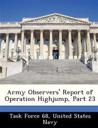 Army Observers' Report of Operation Highjump, Part 23