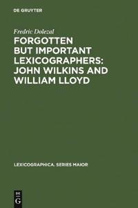 Forgotten but Important Lexicographers