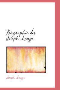 Biographie Des Joseph Lange