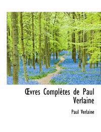 Vres Completes de Paul Verlaine