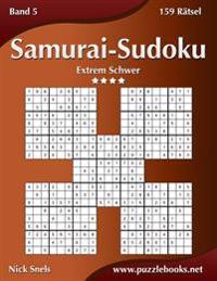 Samurai-Sudoku - Extrem Schwer - Band 5 - 159 Ratsel
