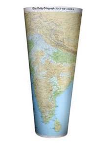 """Daily Telegraph"" India Wall Map"