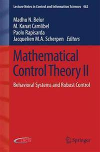 Mathematical Control Theory II